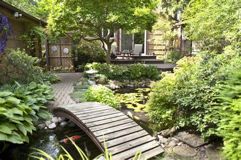 aquascape patio pond canada aquascape your landscape bridge un troubled waters