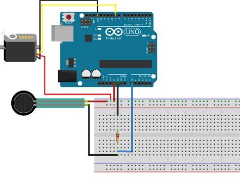 control  servo   force resistive sensor  arduino