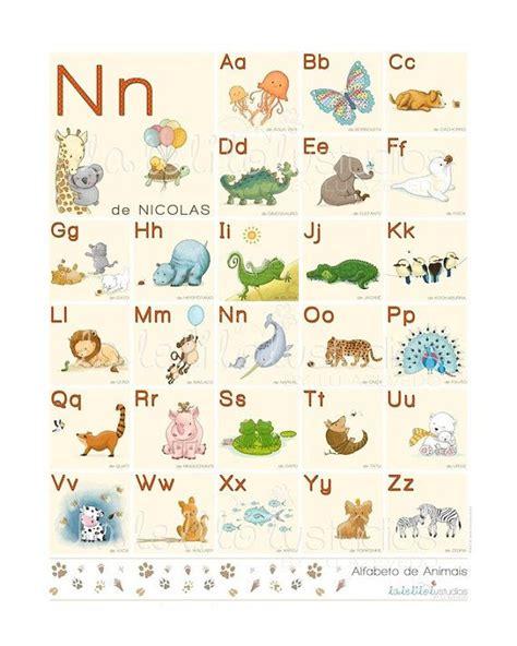 personalized animal alphabet  portuguese abc animals