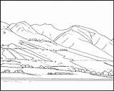 Coloring Mountain Pages Mountains Rocky Scene Maui Printable Pdf Lahaina Lady Clip Popular sketch template