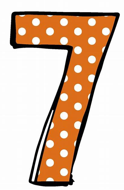 Number Clipart Numbers Transparent Dot Polka Cliparts