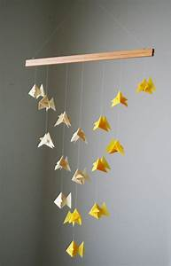 Mobile Basteln Origami : origami mobile goldfish school of fish hanging decor origami paper sculpture modern ~ Orissabook.com Haus und Dekorationen
