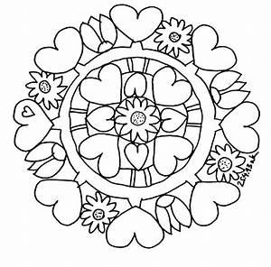 Blumen Zum Ausdrucken : schaeresteipapier mandala herzen und blumen zum muttertag ~ Watch28wear.com Haus und Dekorationen