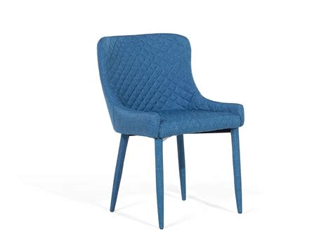 chair dining chair upholstered armless quilted blue