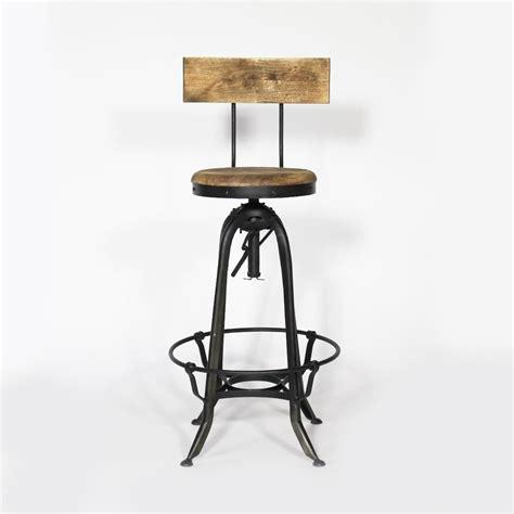 canapé cuir et bois tabouret de bar industriel métal et bois avec dossier