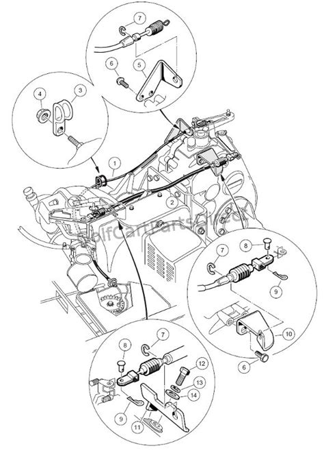 1988 Club Car Part Diagram by Governor Accelerator Cables Club Car Parts Accessories