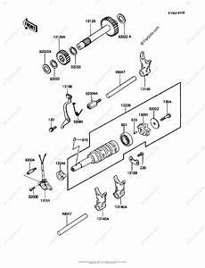 Kawasaki Atv 1986 Oem Parts Diagram For Gear Change Drum
