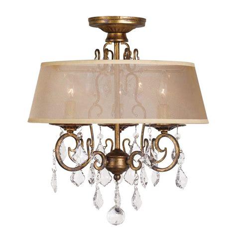 world imports lighting world imports 15 in 3 light antique gold flushmount
