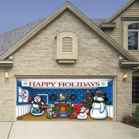 magnetic christmas decorations  garage doors