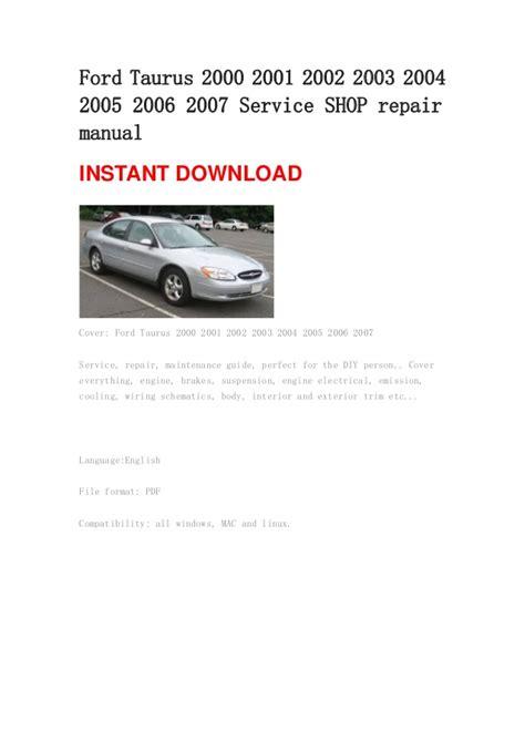 repair manuals  ford