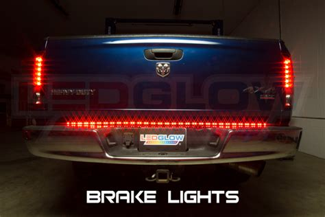 ledglow 60 inch red led 60 inch tailflex truck led tailgate light bar customize