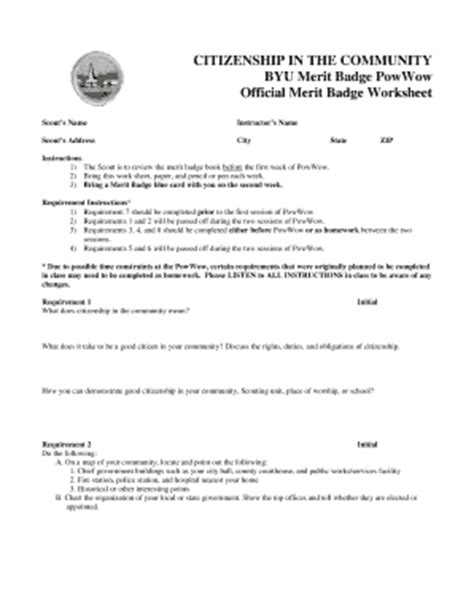 citizenship the community byu worksheet fill printable fillable blank pdffiller