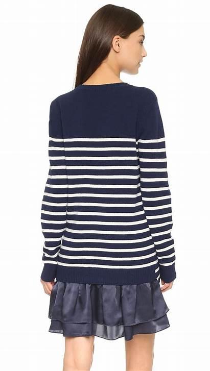 Sweater Navy Striped Marine Too Clu Clothing