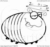 Grub Drunk Cartoon Clipart Outlined Coloring Chubby Cory Thoman Vector sketch template