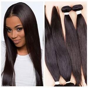 "4 Bundles 18"" Remy Virgin Brazilian Straight Human Hair ..."