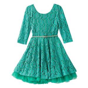Knitworks Girls 7-16 Lace Skater Dress