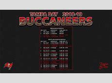 20182019 Tampa Bay Buccaneers Wallpaper Schedule