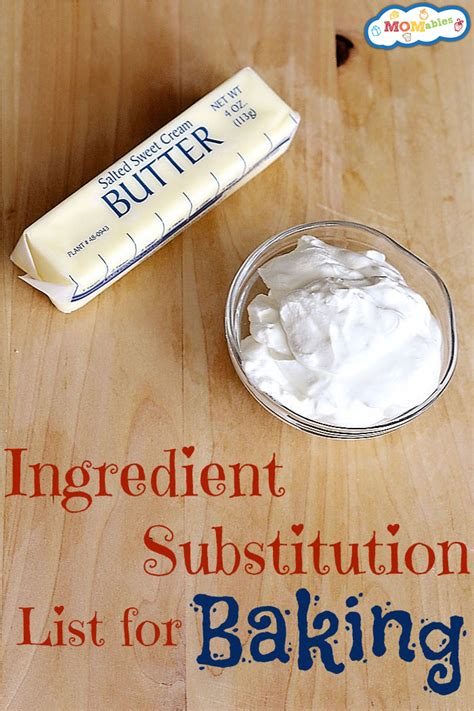 butter substitute baking ingredient substitution list for baking
