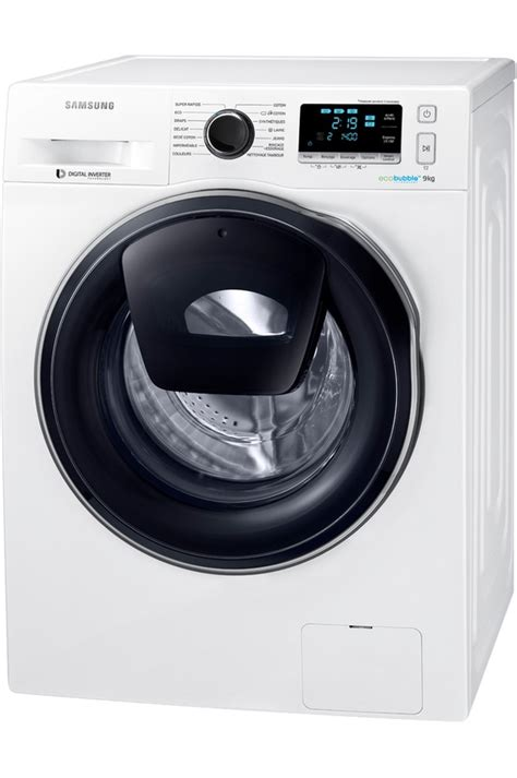 lave linge hublot samsung ww90k6414qw add wash darty malinshopper