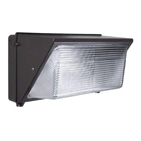 innoled 60 watt charcoal black integrated led wall pack
