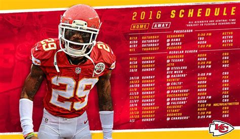 chiefs  nfl schedule  times strength