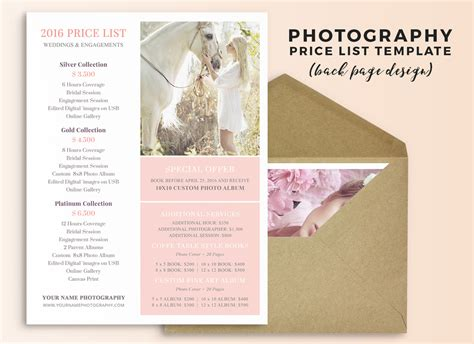 wedding photography pricing guide template megan