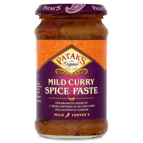 curry paste morrisons patak s mild curry paste 283g product information