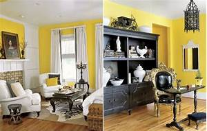 How to decorate with black white yellow for Black white and yellow room ideas