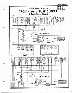 Troy Radio  U0026 Telev  Co  4 Tube Supers