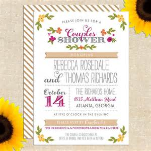 Couples Wedding Shower Invitations Printable