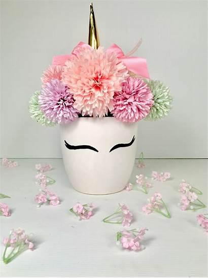 Unicorn Pot Flowers Artificial Silkflora