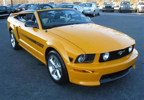 grabber orange  ford mustang gt california special