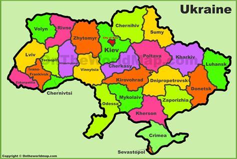 administrative divisions map  ukraine