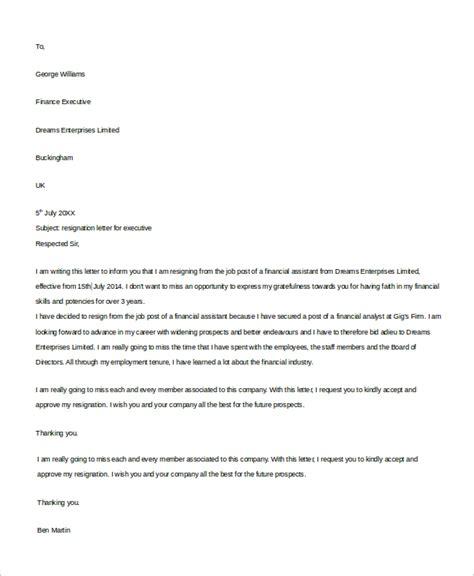 resignation letter  samples  word