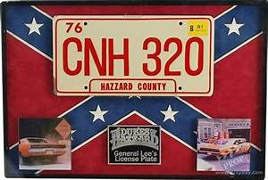 Original General Lee License Plate Movie Prop From The