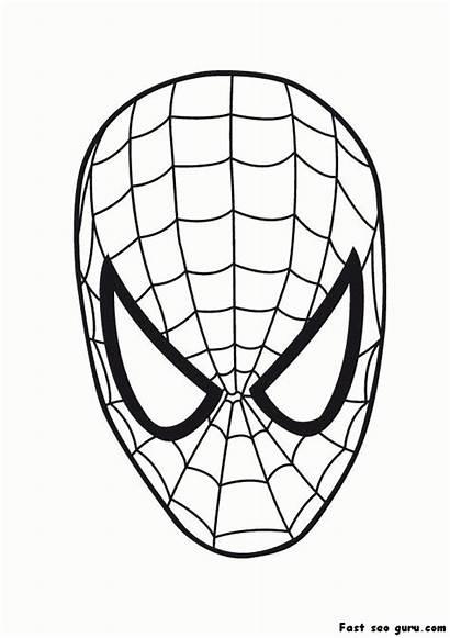 Spiderman Coloring Pages Printable Superheroes Maske Superhero