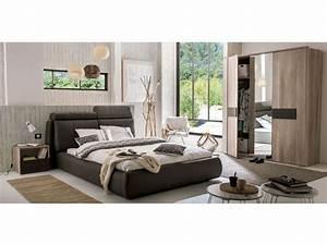 Conforama Chambre Adulte : lit 140x190 cm anouk coloris taupe vente de lit adulte ~ Melissatoandfro.com Idées de Décoration