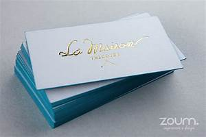 Metallic hot foil stamping by zoum for Zoum business cards