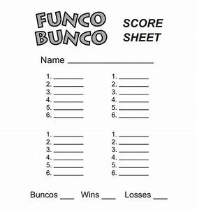bunco score sheets template 9 download documents in pdf With free bunco scorecard template