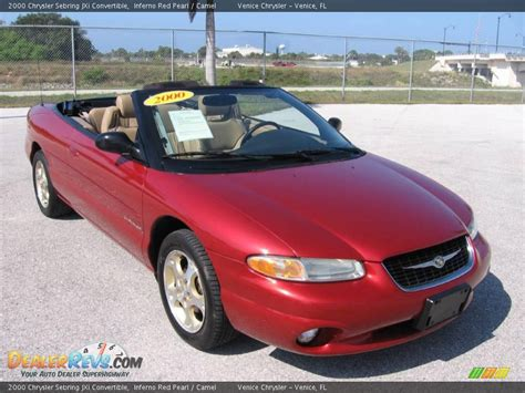 2000 Chrysler Sebring Jxi by 2000 Chrysler Sebring Jxi Convertible Inferno Pearl