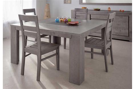 meuble de chambre a coucher en bois table de repas en bois carrée chêne gris trendymobilier com