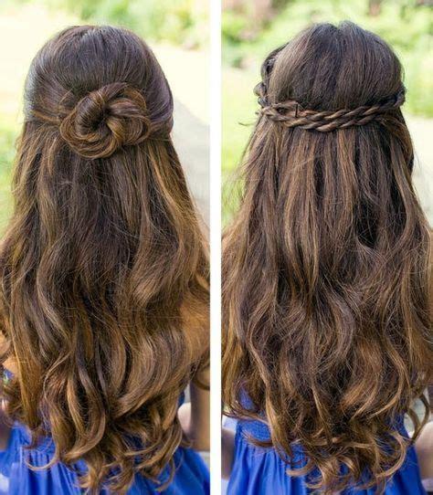ideen halboffene frisuren dutt zwirbeln locken lange haare