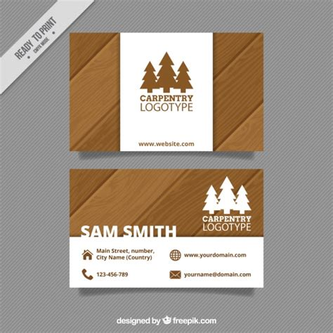 Carpentry card Vector Free Download