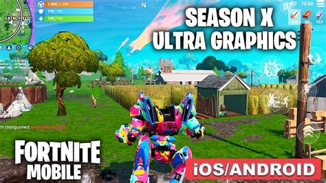 fortnite mobile season  ultra graphics  fps gameplay