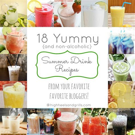 yummy summer drink recipes non alcoholic high heels and grills