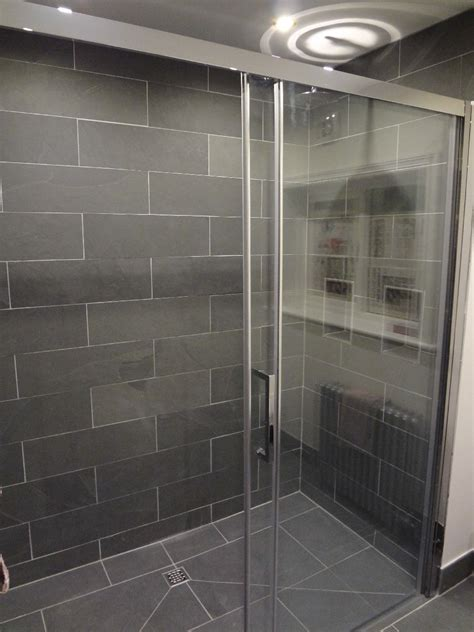 fantastic bathrooms  finished  grey slate