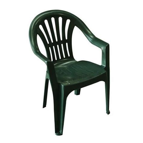 chaise de jardin verte lot 4 chaises jardin en plastique vert elba achat