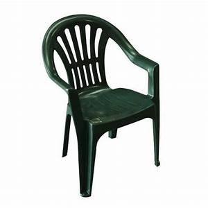 Fauteuil Plastique Jardin : lot 4 chaises jardin en plastique vert elba achat vente fauteuil jardin lot 4 chaises jardin ~ Teatrodelosmanantiales.com Idées de Décoration