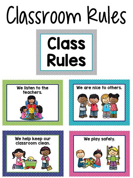 pre k classroom prekinders 823 | class rules bright colors