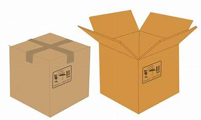 Box Clipart Packaging Open Boxes Transparent Closed